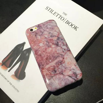 Hight Quality Marble iPhone 7 7Plus & iPhone 6s 6 Plus Case Cover Gift + Free Gift Box