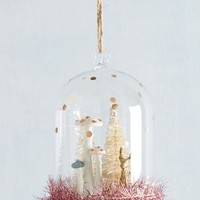 Enchanted Meander Snowglobe Ornament by Anthropologie in Pink Size: One Size Holiday