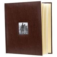 Flashpoint Photo Album, Leatherette Collection, Holds 500 4-6 Inches Photos, 5 Per Page-Brown
