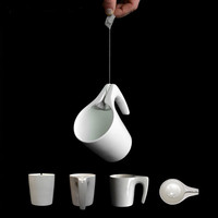 Teacup With A Groove, Prevents Teabag String From Falling Into Cup - DesignTAXI.com