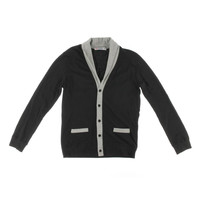 H2H Mens Cotton Contrast Trim Cardigan Sweater