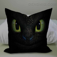 How To Train Your Dragon Toothless  Case, Pillow Cover, Custom Pillow Case