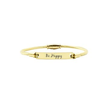 Solid Stainless Steel Inspirational Magnetic Bracelet By Pink Box
