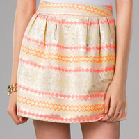JOSIE BROCADE SKIRT