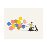 Balloon Ride Everyday Art Print   Illustrated Art Print   RIFLE PAPER Co.   Made in USA