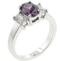 Lilac Engagement Ring, size : 07