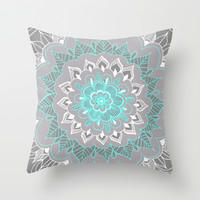 Bubblegum Lace Throw Pillow by Tangerine-Tane