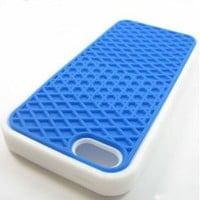 Amazon.com: iPhone 5 Silicone Rubber Sole Vans BLUE with White Side Waffle Case Cover for iPhone 5: Cell Phones & Accessories