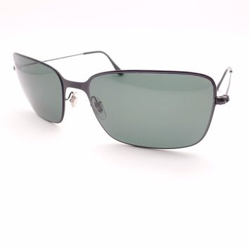 Ray Ban 3514 153/71 Black Green 58mm New Authentic Sunglasses