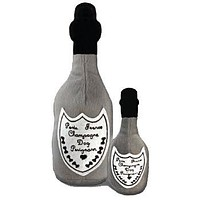 Dog Perignonn Champagne Bottle Dog Toy