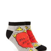 All I Care About Is Pizza Socks