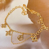 LV Fashion New Letter Women Bracelet Accessory Golden