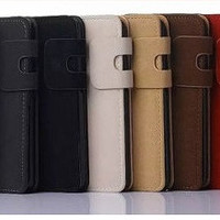 Samsung Note 5 Plain Soft Leather case with wallet And book cover for Samsung Note 5