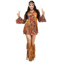 Fun World Womens Peace & Love Halloween Party Hippie Costume