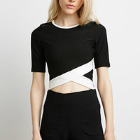 Cross-Front Cropped Top