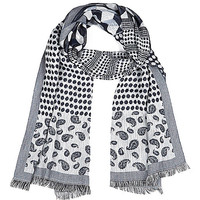 River Island MensBlack paisley print lightweight scarf