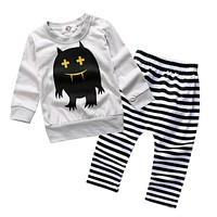 Baby Boy Clothing Spring Kids Baby Clothes T-shirt Pant Cotton Baby Girl Clothes Long Sleeve born Baby Clothes