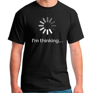 Funny I'm Thinking T Shirt Computer Graphic Tee - IT T-Shirt