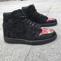Air Jordan 1 black pink Basketball Shoes 40-47