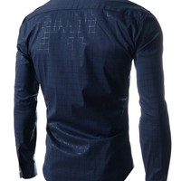Men's New Fashion Designer Casual Long-Sleeved Shirt size mlxl