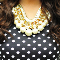 Treasure Chest Pearl Necklace: Gold | Hope's