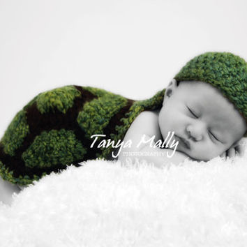 Crochet Turtle Newborn Cape Prop by Bethanys5 on Etsy