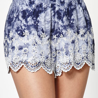 Kendall and Kylie Tie-Dye Eyelet Soft Shorts at PacSun.com