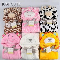 2017 New Soft Hooded Animal Baby Bathrobe High Quality 16 Pattern Cartoon Baby Towel Character Kids Bath Robe Infant Towel