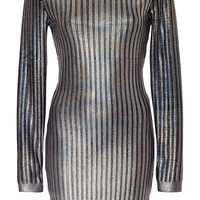 Textured Holographic Mini Dress | Moda Operandi