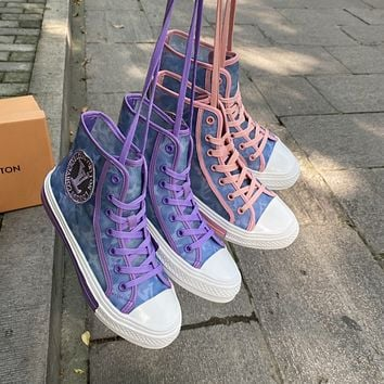 LV Fashion casual high top shoes