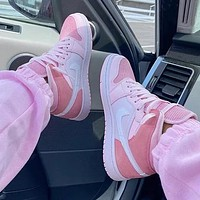 Air Jordan 1 High Tops Mid Digital Pink AJ1  Cherry Pink Fresh Pink