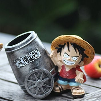 Father's Day Gift, Cute Japanese Cartoon Monkey Luffy style Brush and Pen Holder/ Pencil Holder