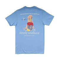 Preppy Old Bay Dog Tee in Blues by Simply Southern