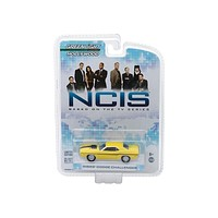 1970 Dodge Challenger R/T (Gibbs') Yellow with Black Stripes NCIS (2003) TV Series Hollywood Series 1/64 Diecast Model Car by Greenlight