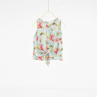Tropical print top - SHIRTS AND BLOUSES-GIRL | 4-14 years-KIDS | ZARA United States