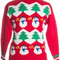 Red Ugly Christmas Pullover 37601 - The Sweater Store