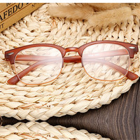 Fashion Transparent Reading Glasses Black Half-frame Spectacles Glasses Reading Glasses 2.5 for Women Men Eyeglasses