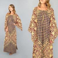 70's India Cotton Caftan