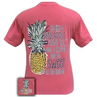 Girlie Girl Originals Preppy Pineapple Stand Tall Comfort Colors T-Shirt