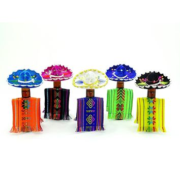 "Mexican Poncho bottle covers Set of 10 5"" x 12"" BCC90"
