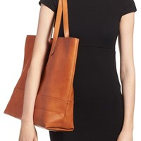 Sole Society Oversize Faux Leather Shopper   Nordstrom