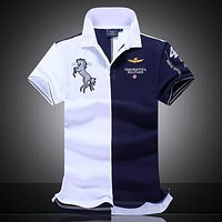 Men's boutique embroidery polo shirt