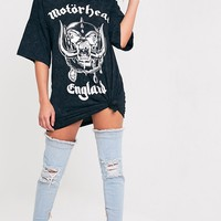 Motorhead Charcoal Washed T-Shirt Dress
