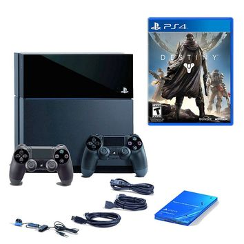 Sony PlayStation 4 PS4 Bundle, 500GB with Destiny & Accessories SNY-KT-3000767-DS4 (Black)