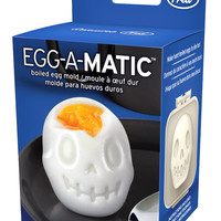 """""""Egg-A-Matic Skull"""" Boiled Egg Mold by Fred & Friends"""
