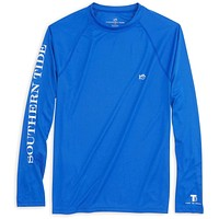 Long Sleeve Performance Tee in Royal Blue by Southern Tide
