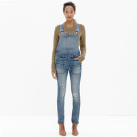 SKINNY OVERALLS IN ADRIAN WASH