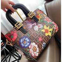 Fendi New fashion more letter floral print shoulder bag crossbody bag handbag