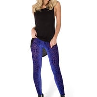 Burned Velvet Blurple Leggings
