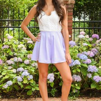 Down By The Coast Romper-Lilac